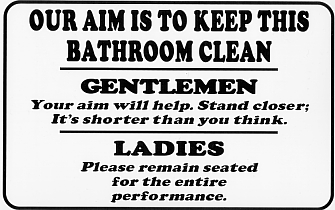 Aim to Keep The Bathroom Clean
