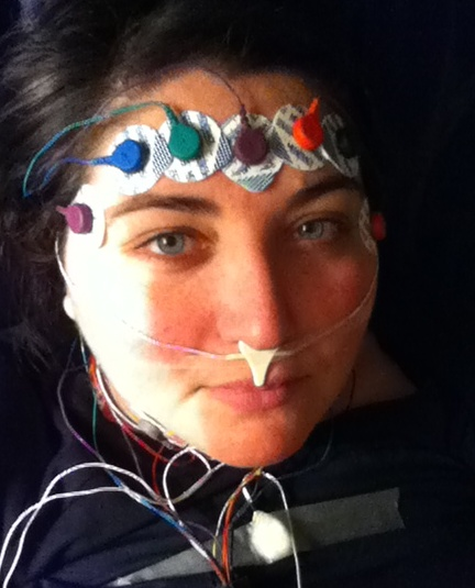 sleep study electrodes