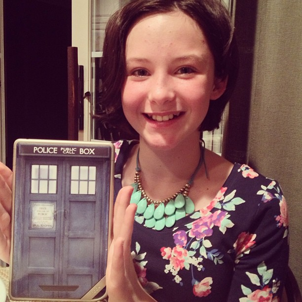 nook tablet with tardis decal