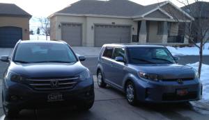 2013 honda CRV and 2011 Scion XB