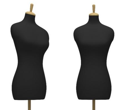 black mannequins