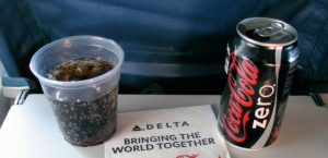 coke zero on delta flight