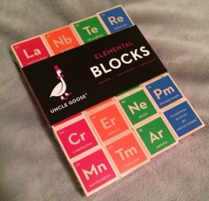 periodic table of the elements building blocks