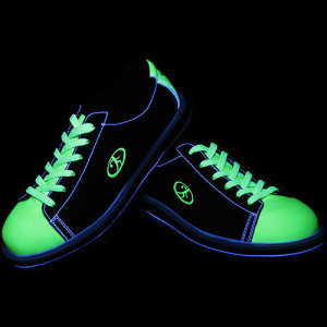 elite neon sun bowling shoes