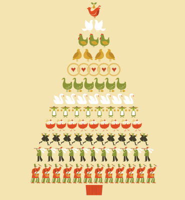 12 days of Christmas illustration