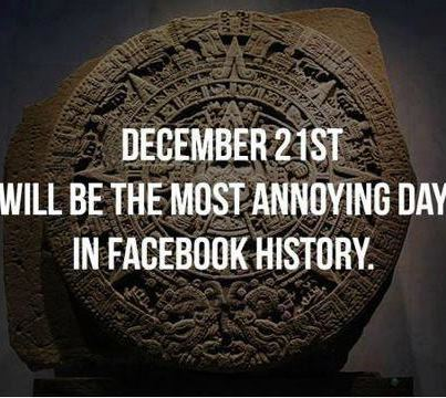 end of the world facebook meme